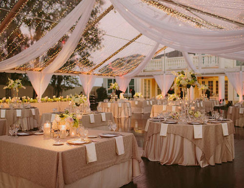 Natural beautiful purple Romantic Wedding Tent