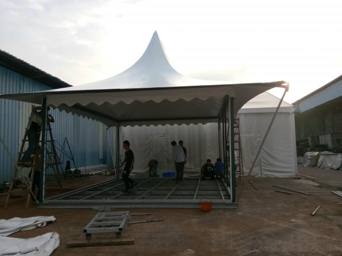 5x6M White PVC Roof Hotel Marquee Party Tent With Glass Wall