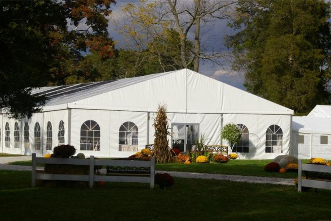 400 Person 15x40M Outside Event Tents / Colorful Large Wedding Tents With White PVC Wall