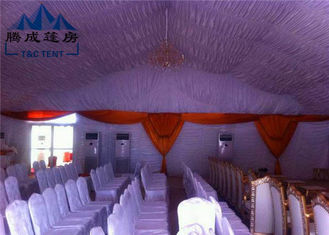 Transparent PVC Cover Church Revival Tents With Simple Cassette Flooring