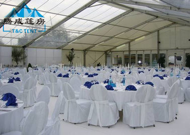 Transparent PVC Cover Outside Event Tents Selectable Size For Wedding Ceremony