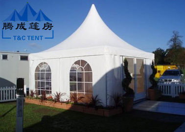 China Advertising Pagoda Party Tent With White PVC Window / Sidewall Curtain supplier