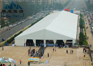 China 20M Modern Style Trade Show Tents Wooden Floor Inside For Exhibition Event supplier