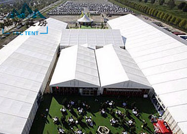 China Movable Design Trade Show Tents With Clear PVC Fabric / VIP Cassette Flooring supplier