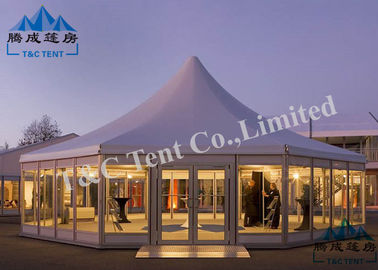 Octagon Hotel Bell Tent Easy Assembled With Light Frame Steel Structure