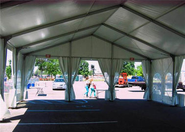 Simple White Fire Retardant Wall Outside Tent For Wedding Ceremony