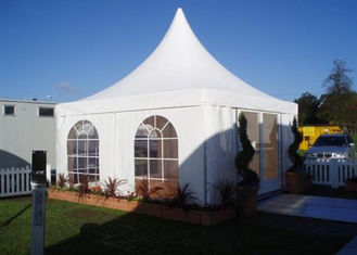 White 5x5m High Peak Pagoda Canopy Tent Customized Commercial Outdoor Marquee Tent For Trade Show