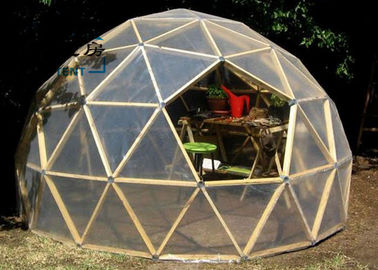 Q235 Multi-functional Transparent White Geodesic Dome Tent With Hop Dip Galvanized Steel Pipe