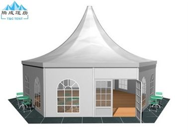 Commercial Enclosed Multiside Canopy party Tent With 850g/sqm White Fabric Top Cover