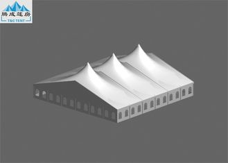 Multiple Spires A Shaped Marquee Party Tent 30x30m UV Resistant With Transparent Clear Windows