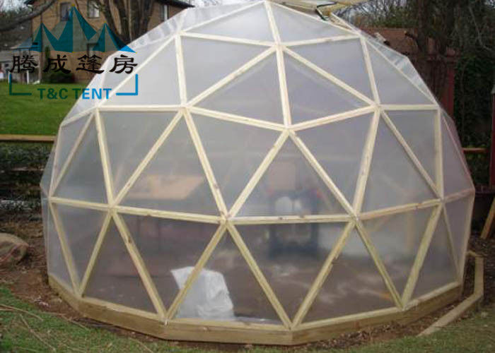 Uv Resistant Geodesic Dome Tent With Double Pvc Coated