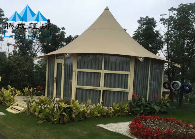 Outdoor Canvas Bell Tent With Luxury Liner And Hard Pressed Extruded Aluminum Alloy