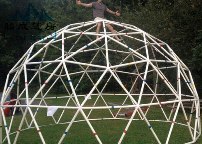 Light Frame Steel Structure Portable Dome Tent , Dome Shaped